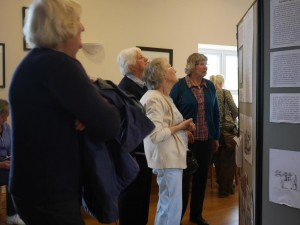 Visitors at the Sinderhope exhibition on the lead carriers on 29th June