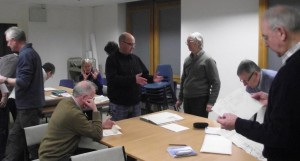 Reading the Past volunteers at Tyne & Wear Archives Jan 2014 1 cmp